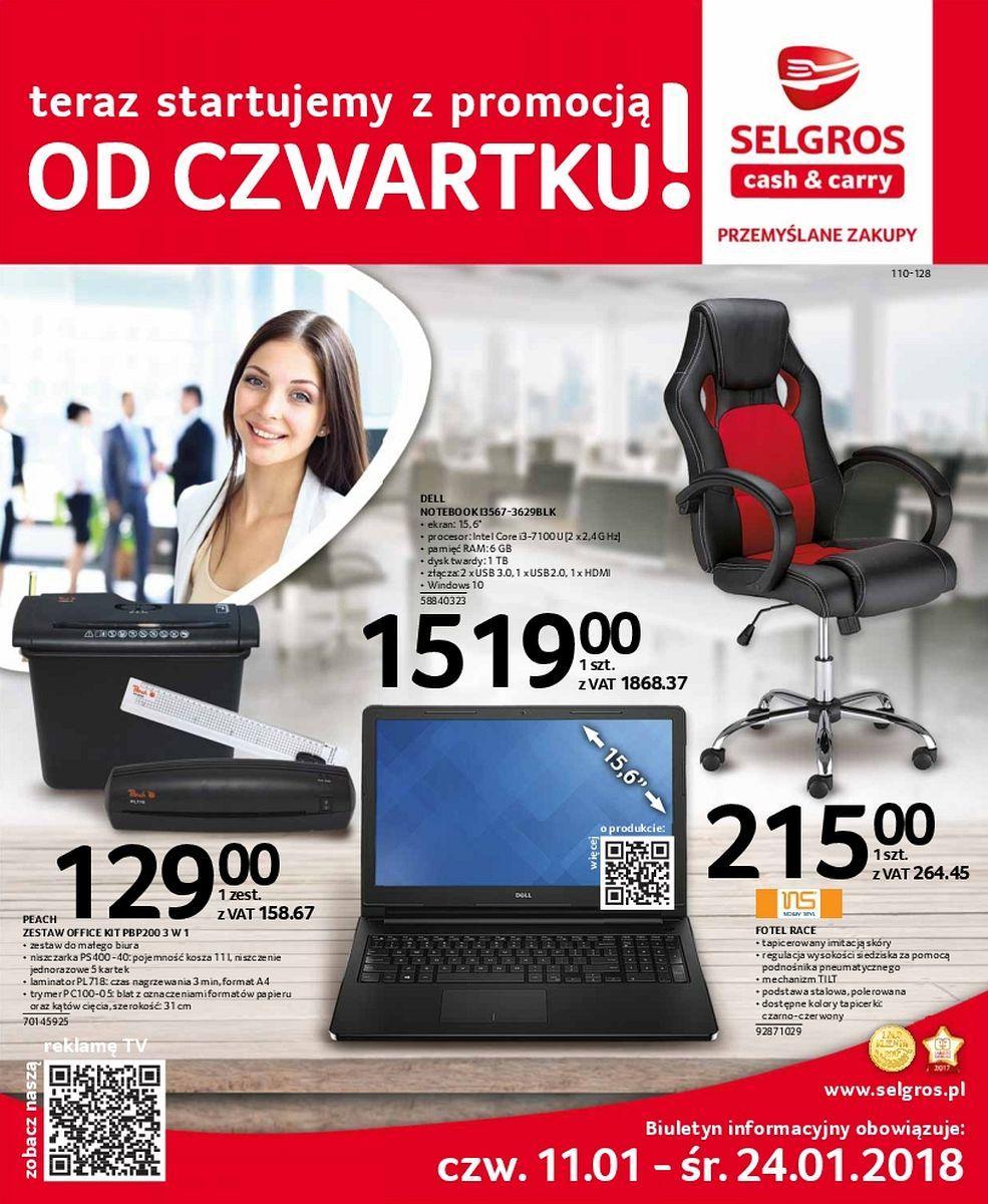 Gazetka promocyjna Selgros do 24/01/2018 str.0