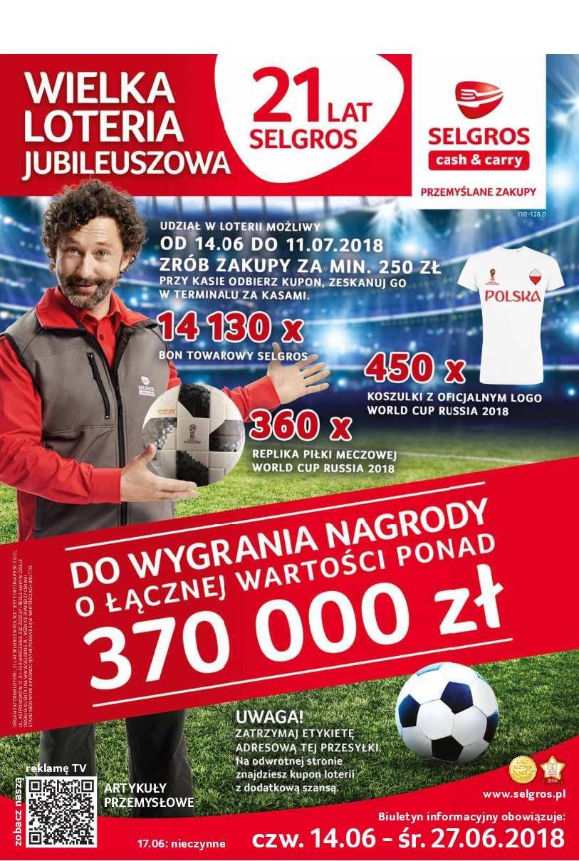 Gazetka promocyjna Selgros do 27/06/2018 str.0