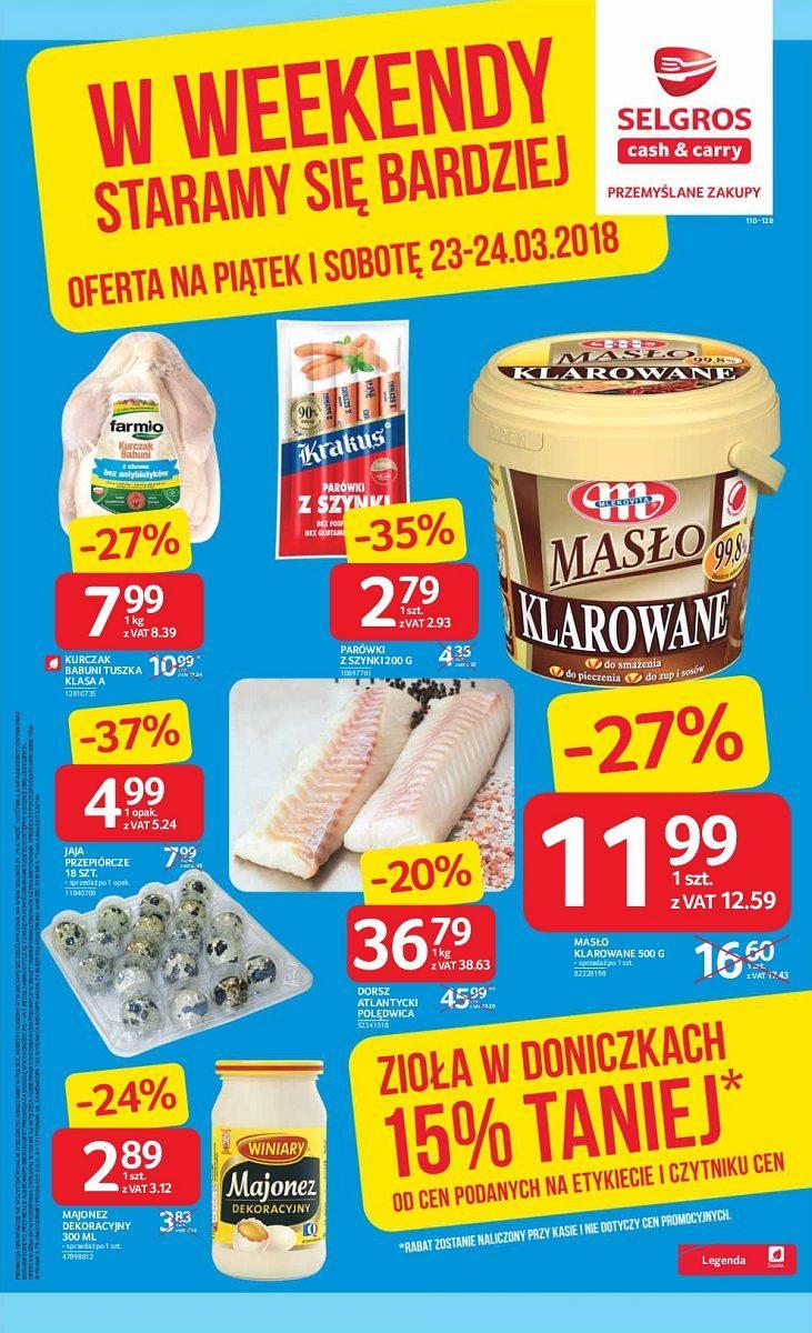 Gazetka promocyjna Selgros do 24/03/2018 str.0