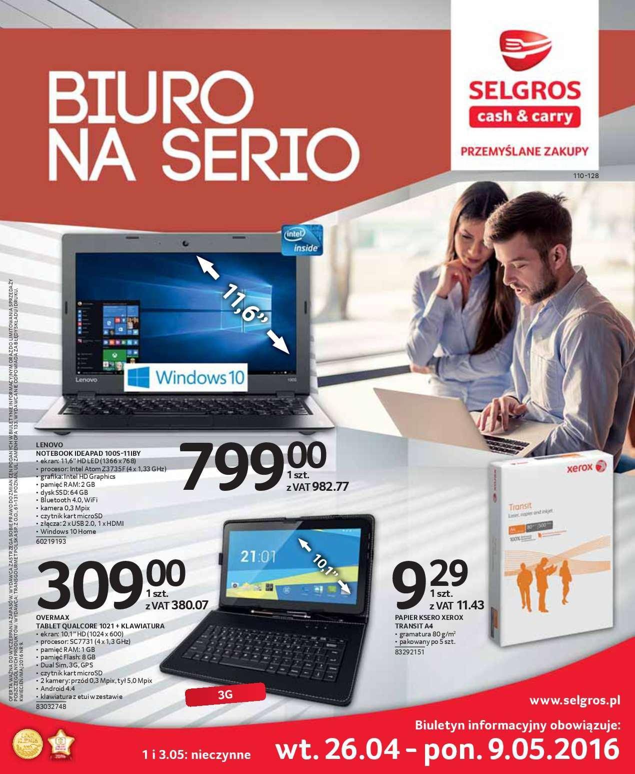 Gazetka promocyjna Selgros do 09/05/2016 str.0