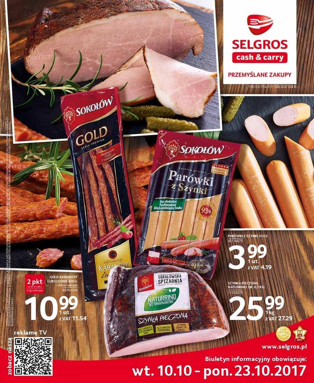 Gazetka promocyjna Selgros do 23/10/2017 str.0
