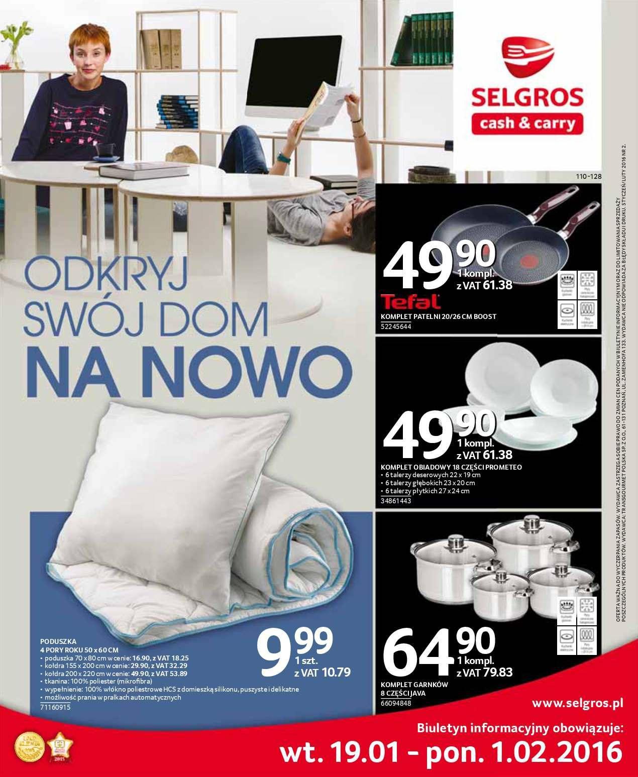 Gazetka promocyjna Selgros do 01/02/2016 str.0