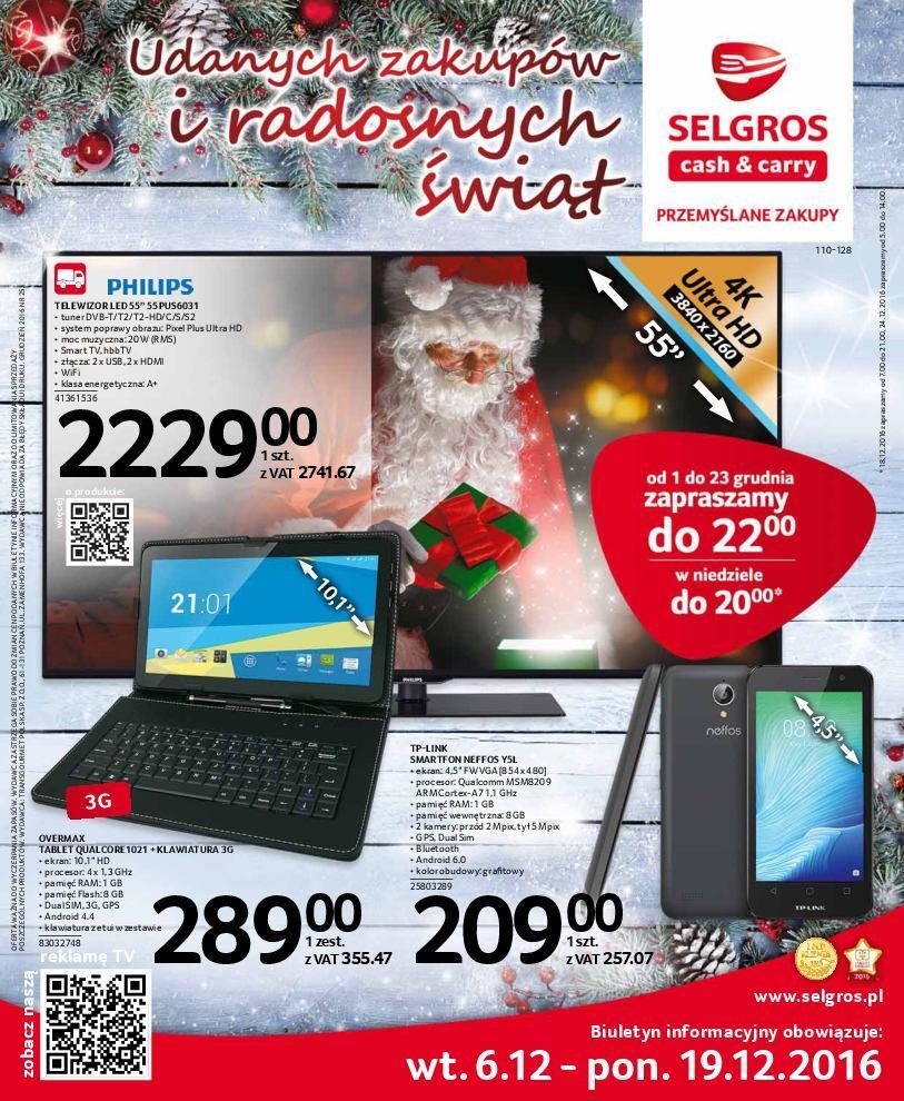 Gazetka promocyjna Selgros do 19/12/2016 str.0