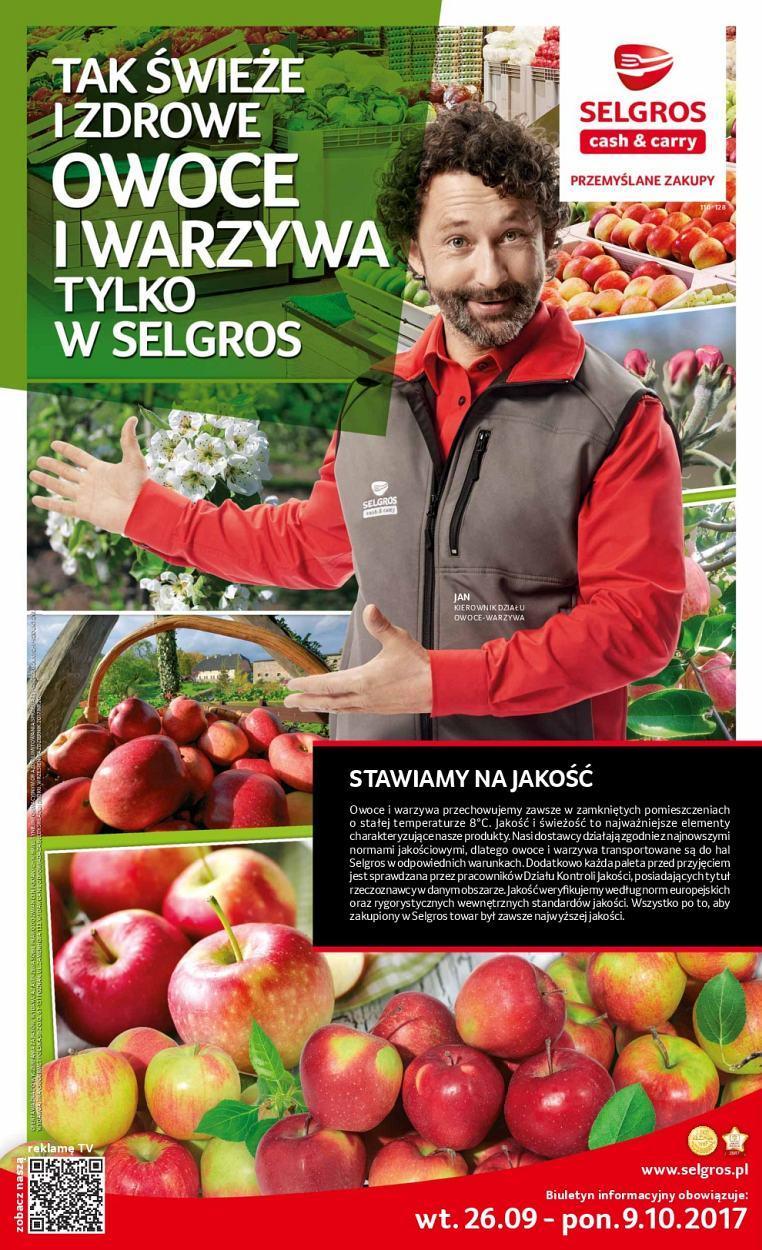 Gazetka promocyjna Selgros do 09/10/2017 str.0