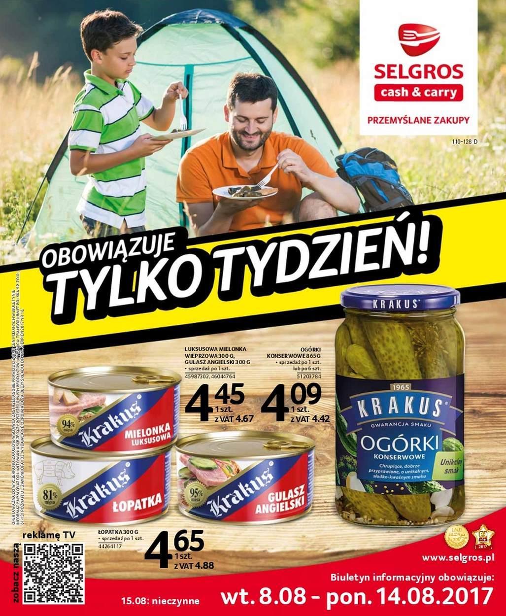 Gazetka promocyjna Selgros do 14/08/2017 str.0