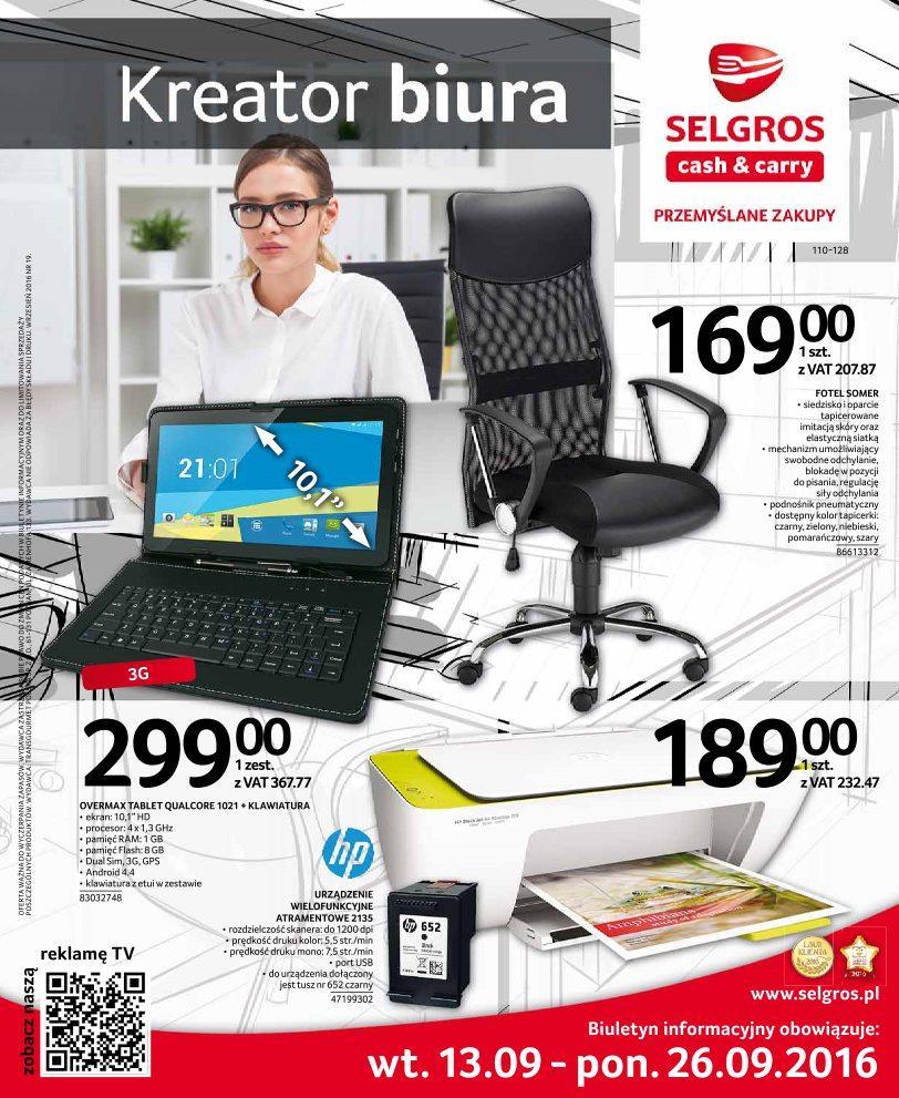 Gazetka promocyjna Selgros do 26/09/2016 str.0