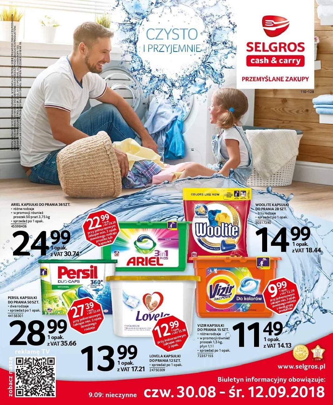 Gazetka promocyjna Selgros do 12/09/2018 str.0