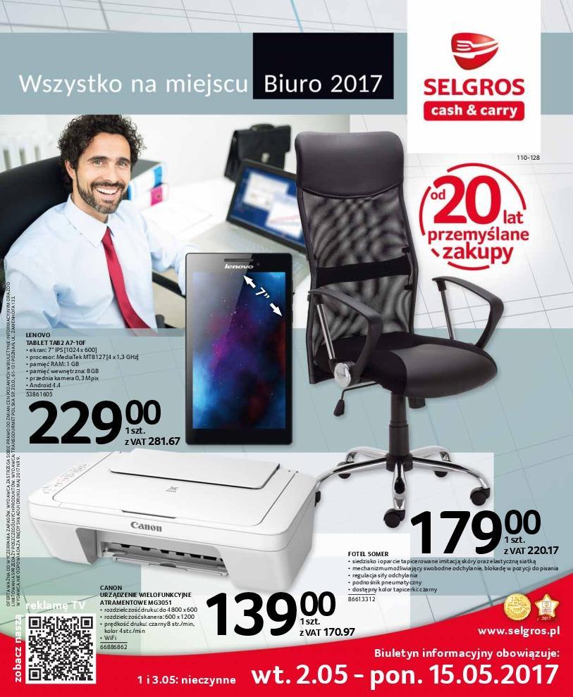 Gazetka promocyjna Selgros do 15/05/2017 str.0