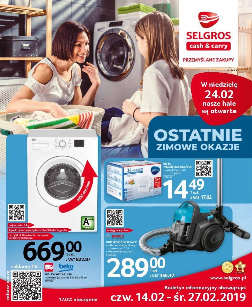 Gazetka promocyjna Selgros do 27/02/2019 str.0