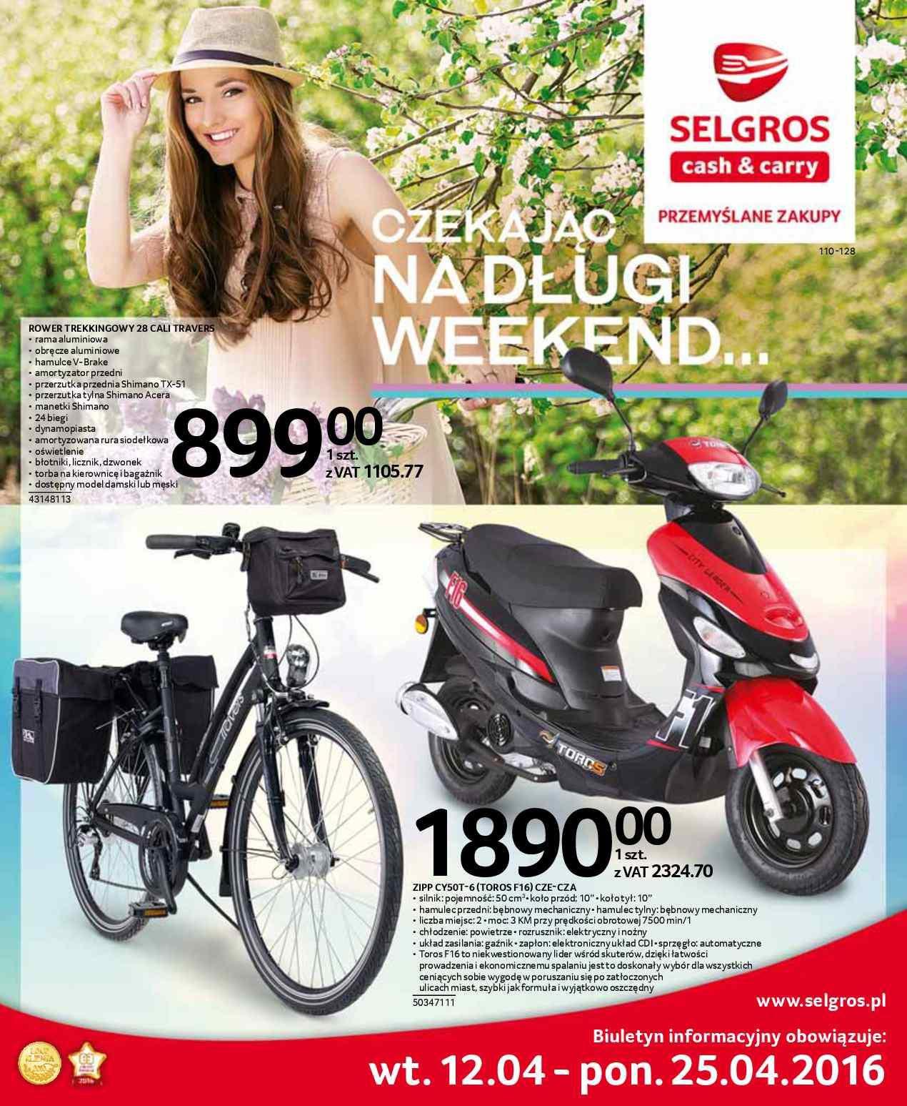 Gazetka promocyjna Selgros do 25/04/2016 str.0