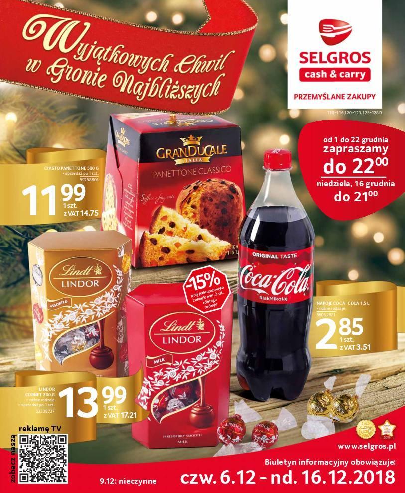 Gazetka promocyjna Selgros do 16/12/2018 str.1