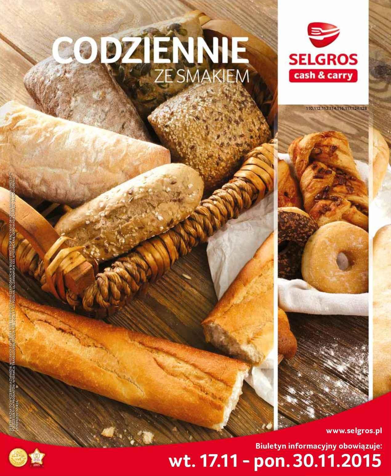 Gazetka promocyjna Selgros do 30/11/2015 str.0
