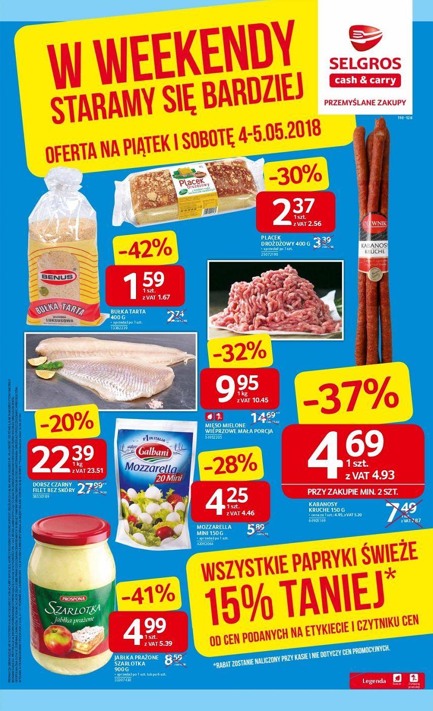Gazetka promocyjna Selgros do 05/05/2018 str.0