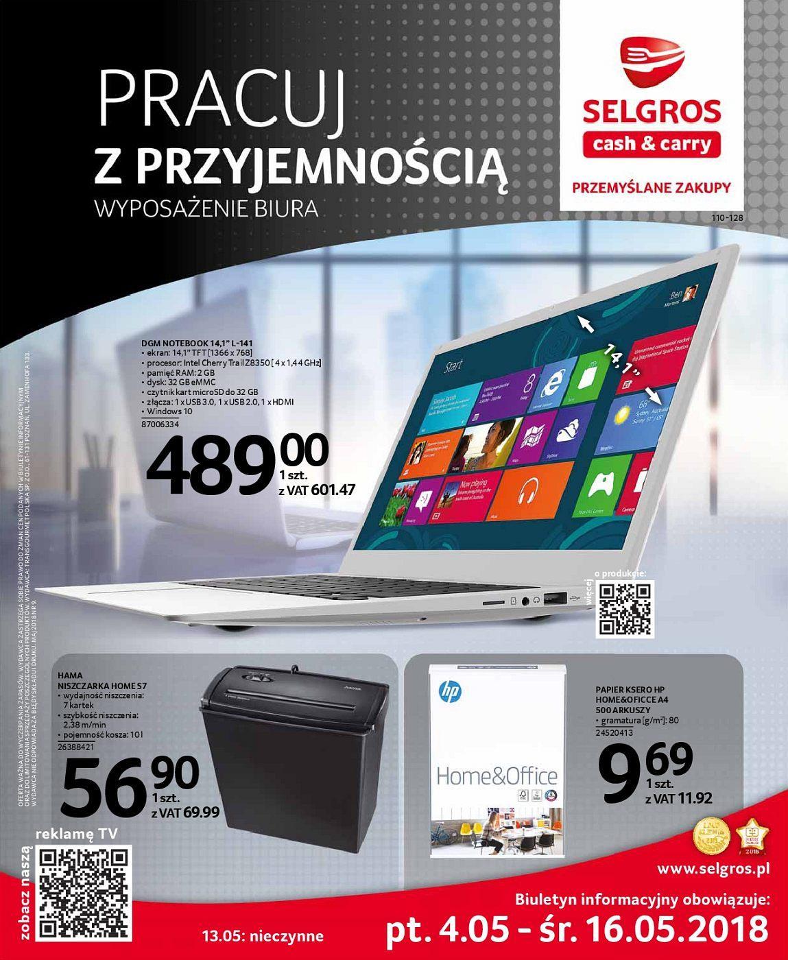 Gazetka promocyjna Selgros do 16/05/2018 str.0