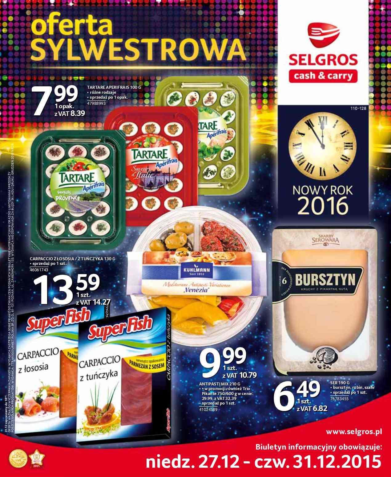 Gazetka promocyjna Selgros do 31/12/2015 str.0