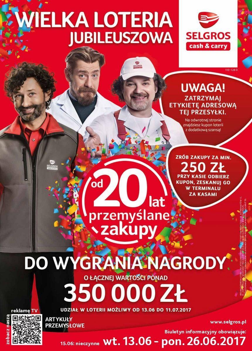 Gazetka promocyjna Selgros do 26/06/2017 str.0