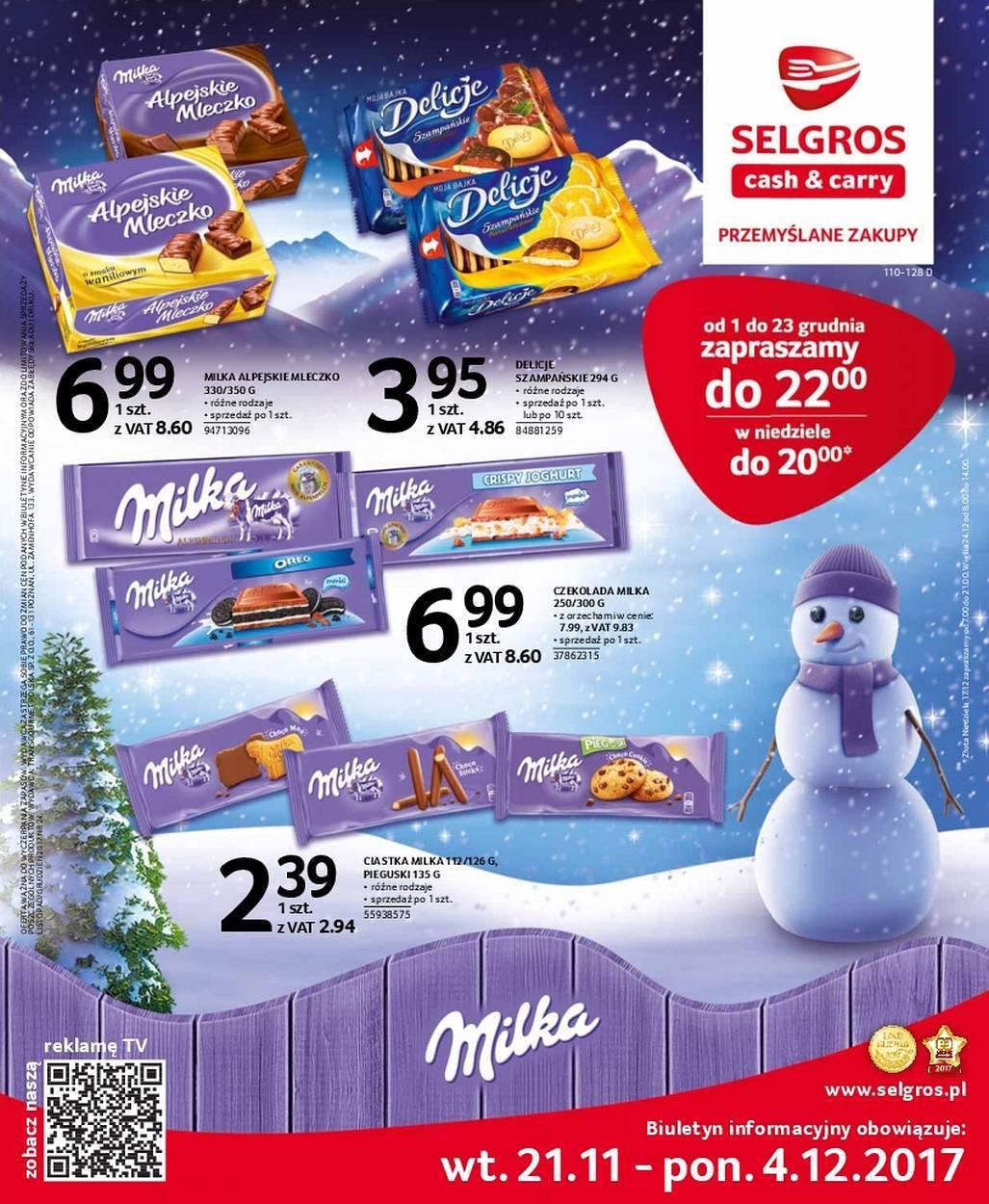 Gazetka promocyjna Selgros do 04/12/2017 str.0