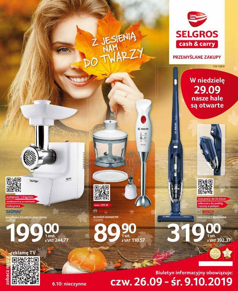 Gazetka promocyjna Selgros do 09/10/2019 str.0