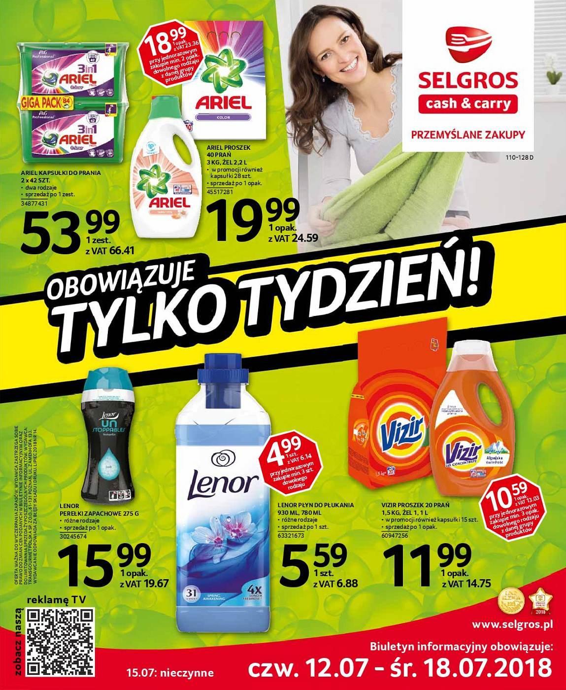 Gazetka promocyjna Selgros do 18/07/2018 str.0