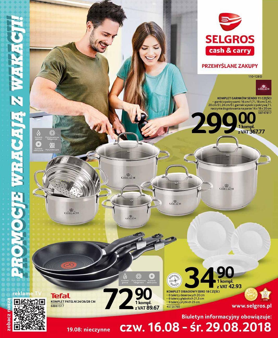 Gazetka promocyjna Selgros do 29/08/2018 str.0