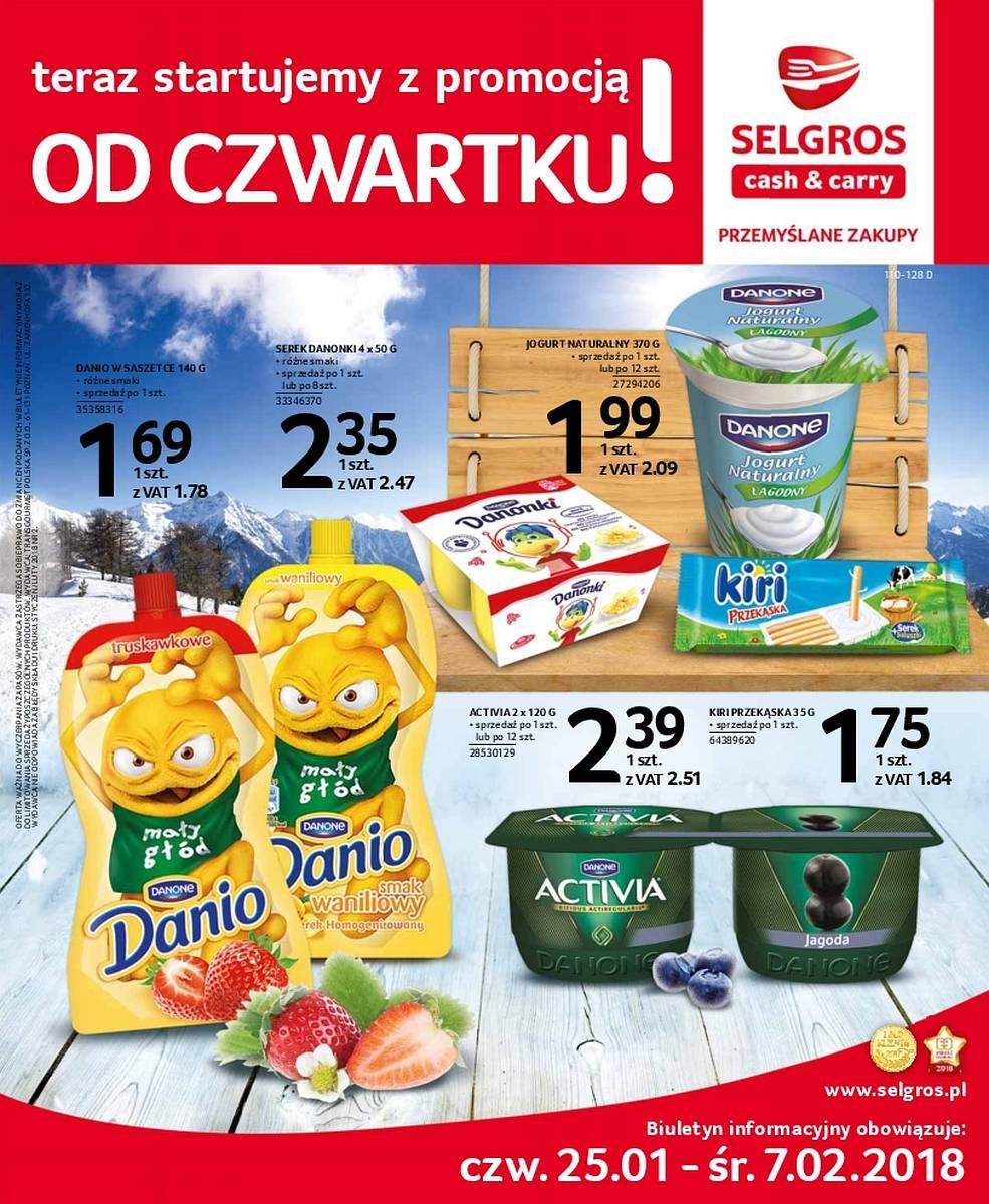 Gazetka promocyjna Selgros do 07/02/2018 str.0