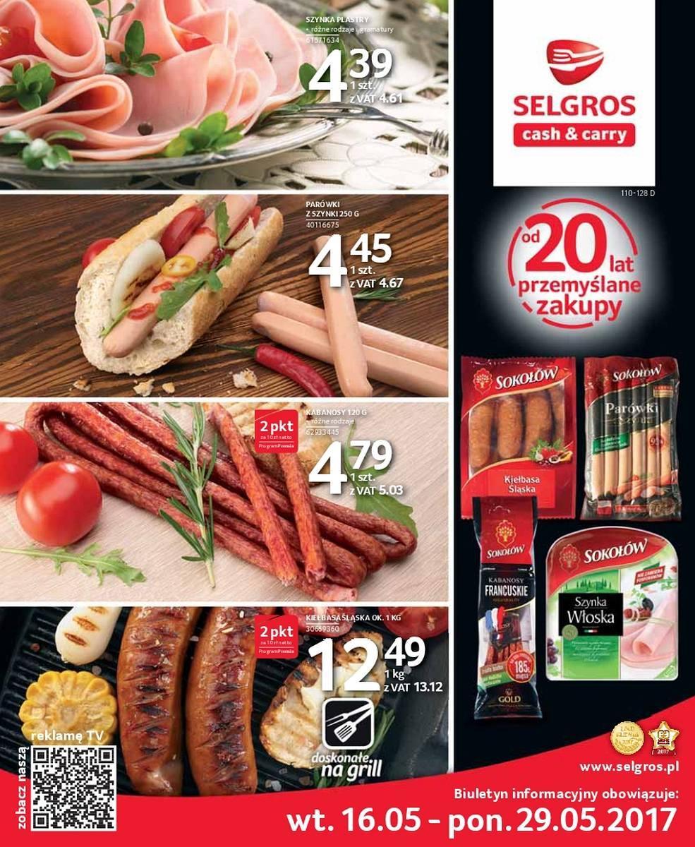 Gazetka promocyjna Selgros do 29/05/2017 str.0