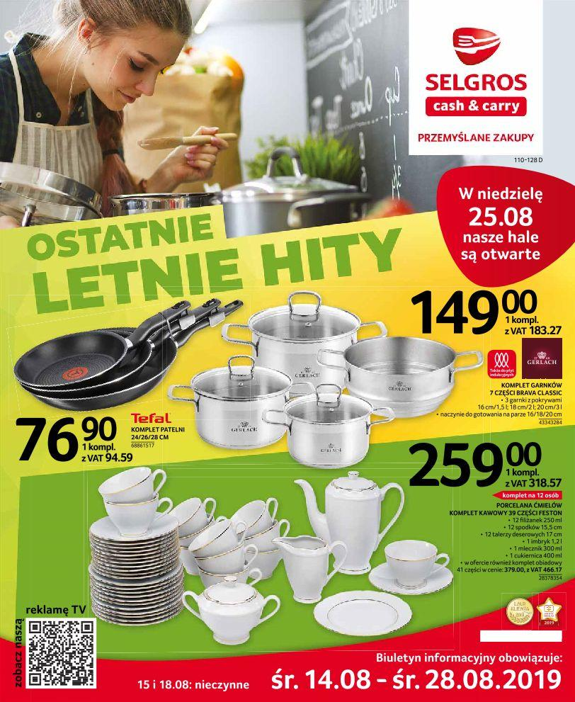 Gazetka promocyjna Selgros do 28/08/2019 str.1