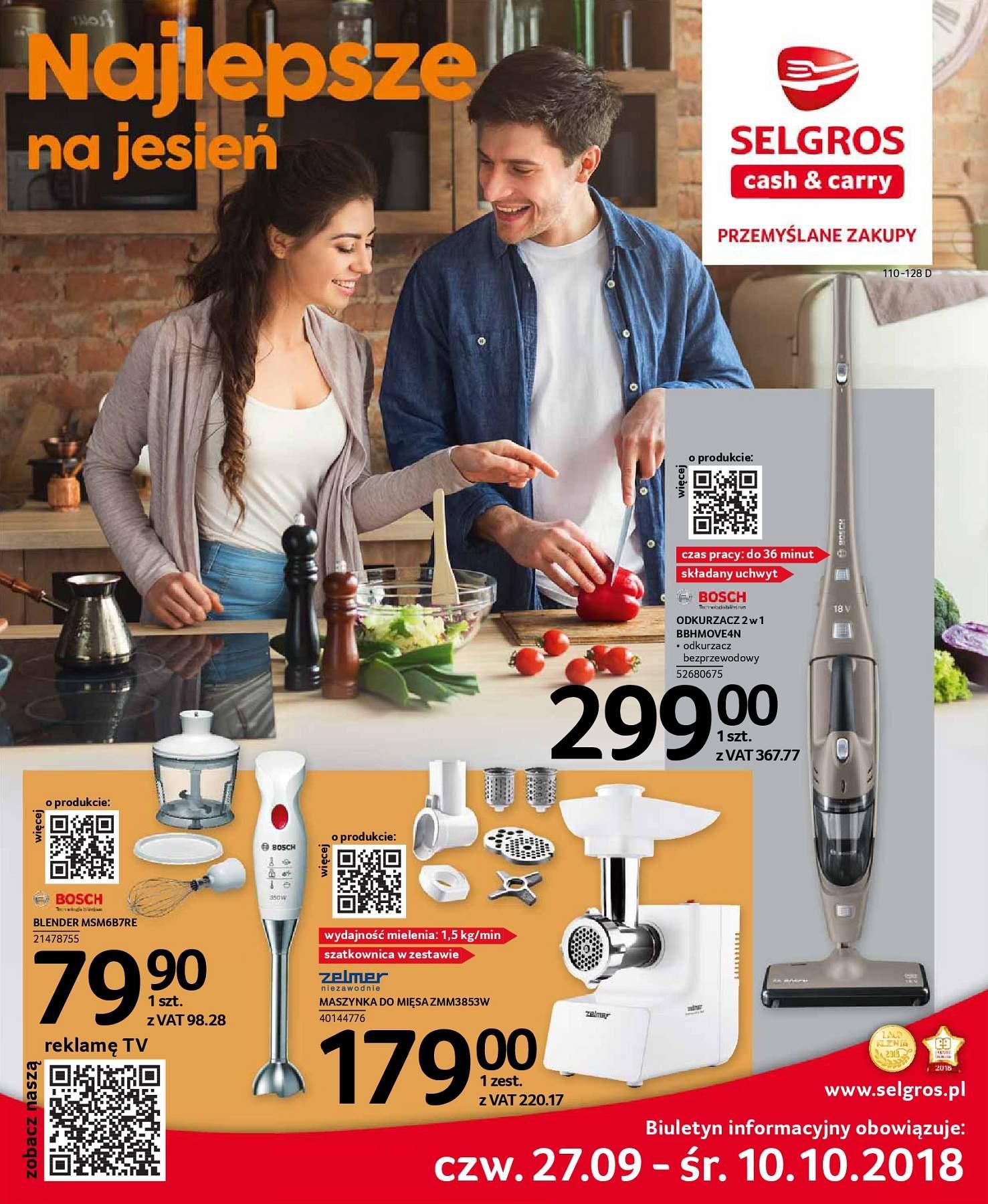 Gazetka promocyjna Selgros do 10/10/2018 str.0