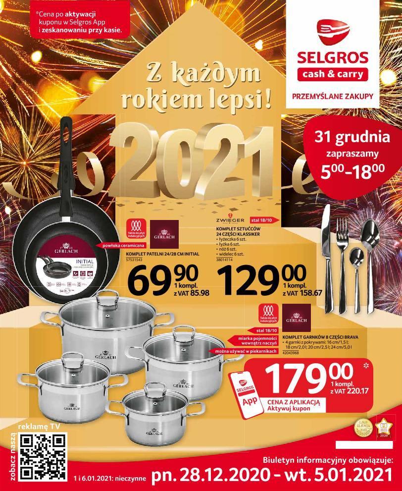 Gazetka promocyjna Selgros do 05/01/2021 str.1