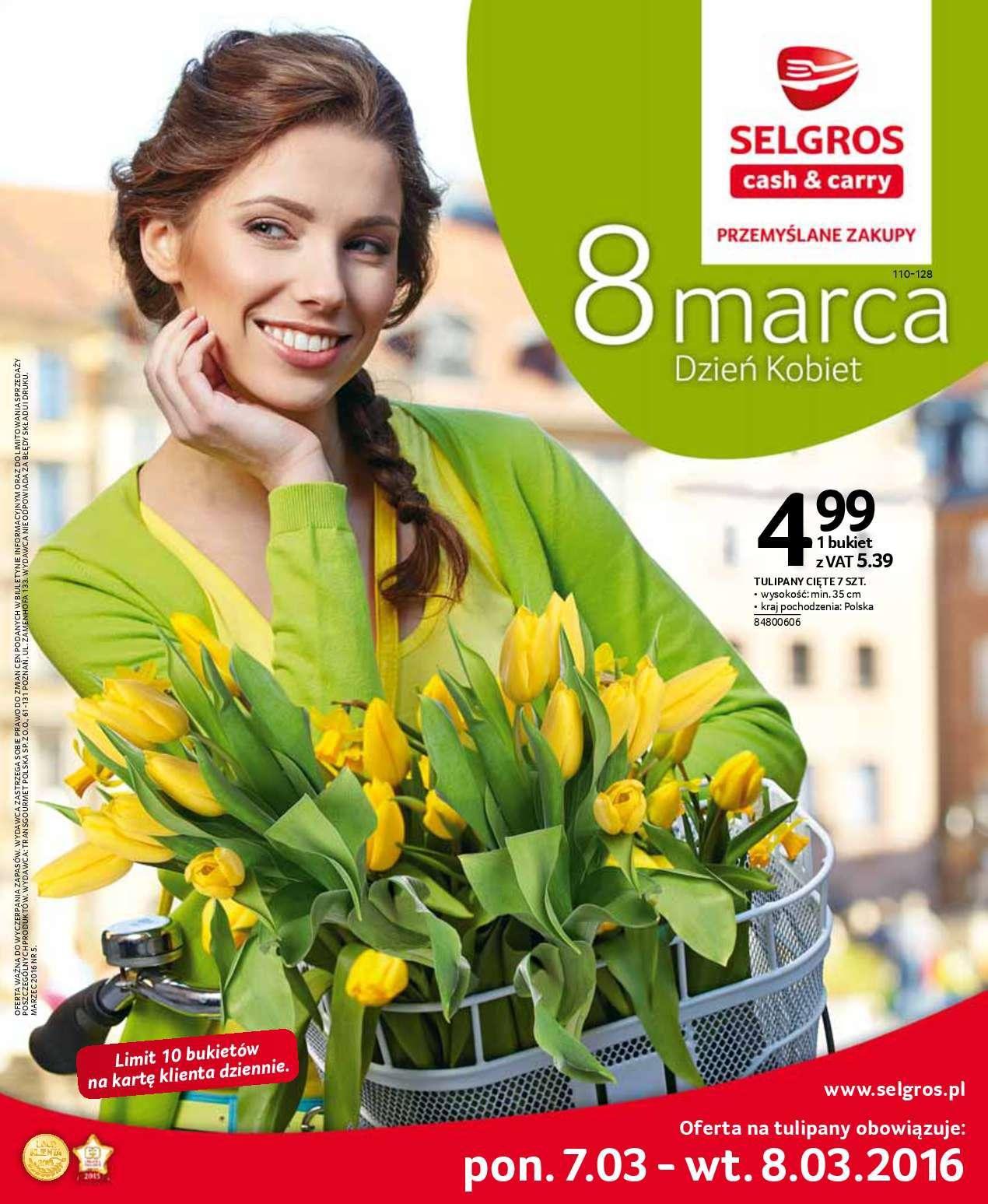 Gazetka promocyjna Selgros do 08/03/2016 str.0