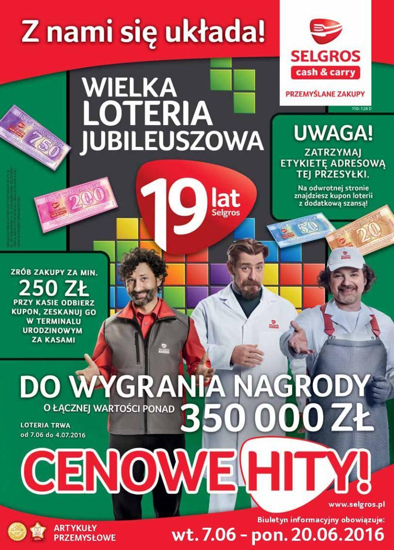 Gazetka promocyjna Selgros do 20/06/2016 str.0