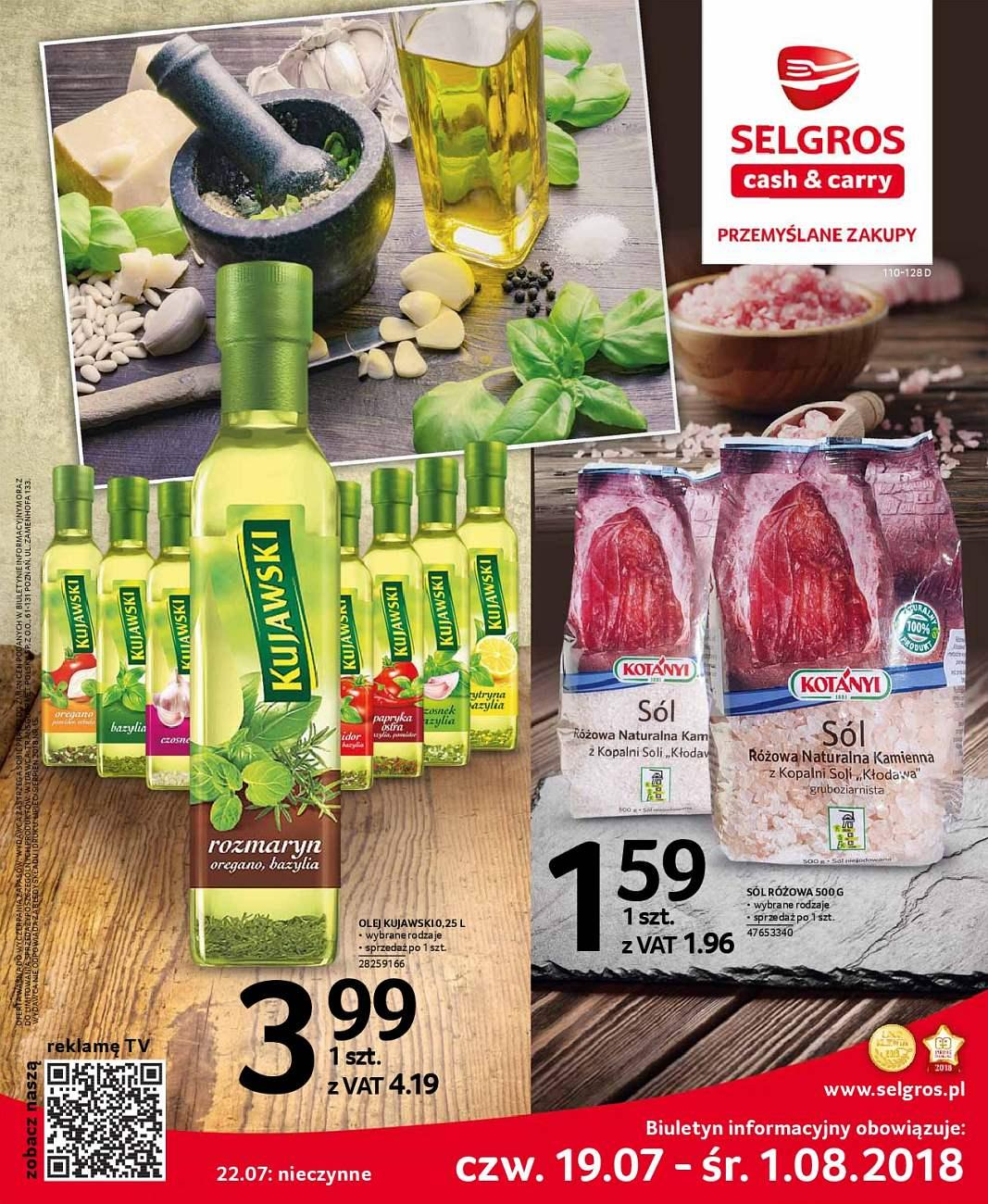 Gazetka promocyjna Selgros do 01/08/2018 str.0