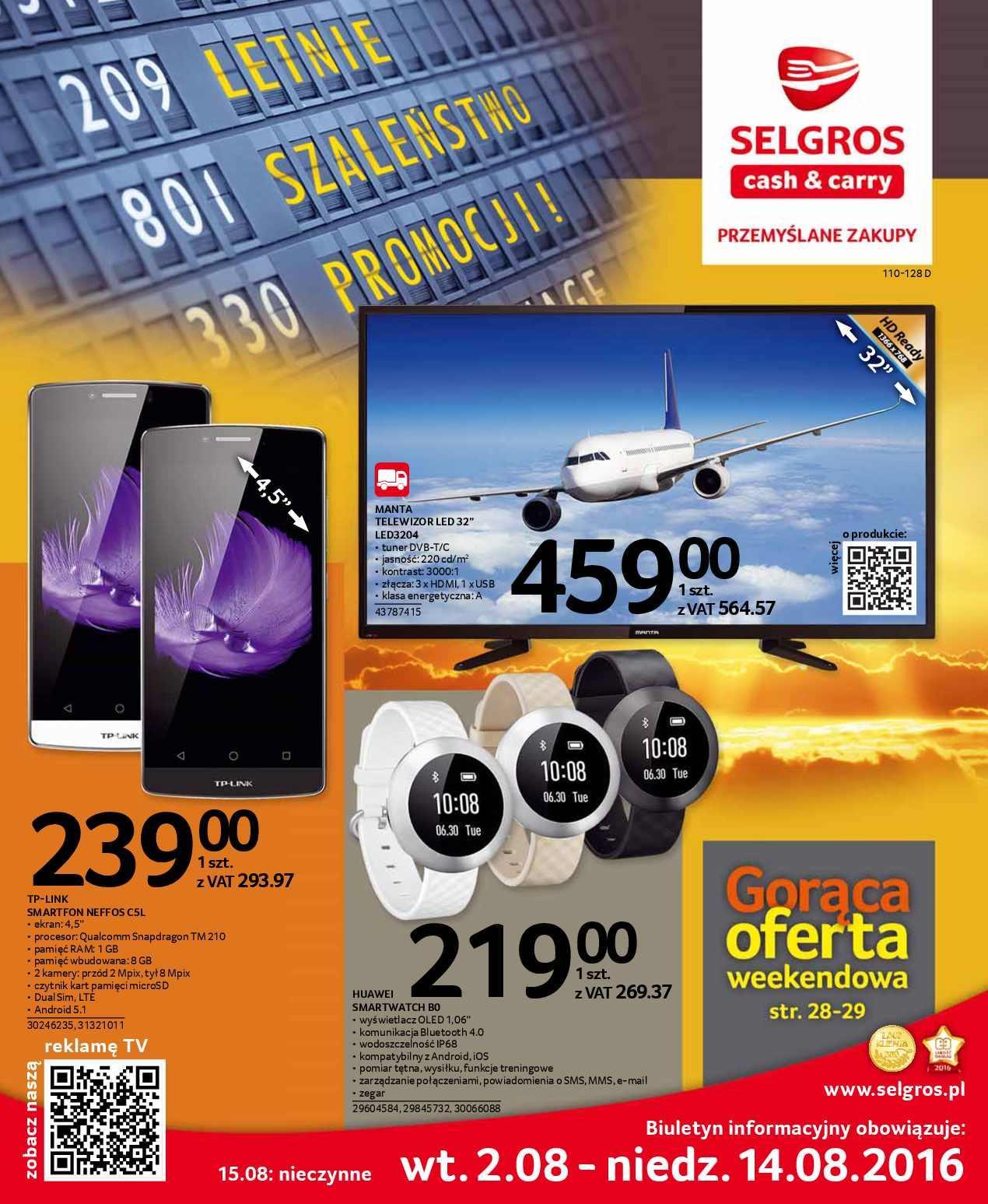 Gazetka promocyjna Selgros do 14/08/2016 str.0