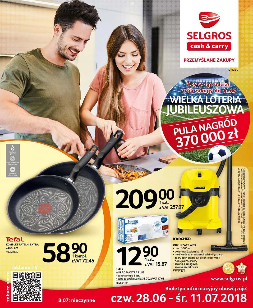 Gazetka promocyjna Selgros do 11/07/2018 str.0