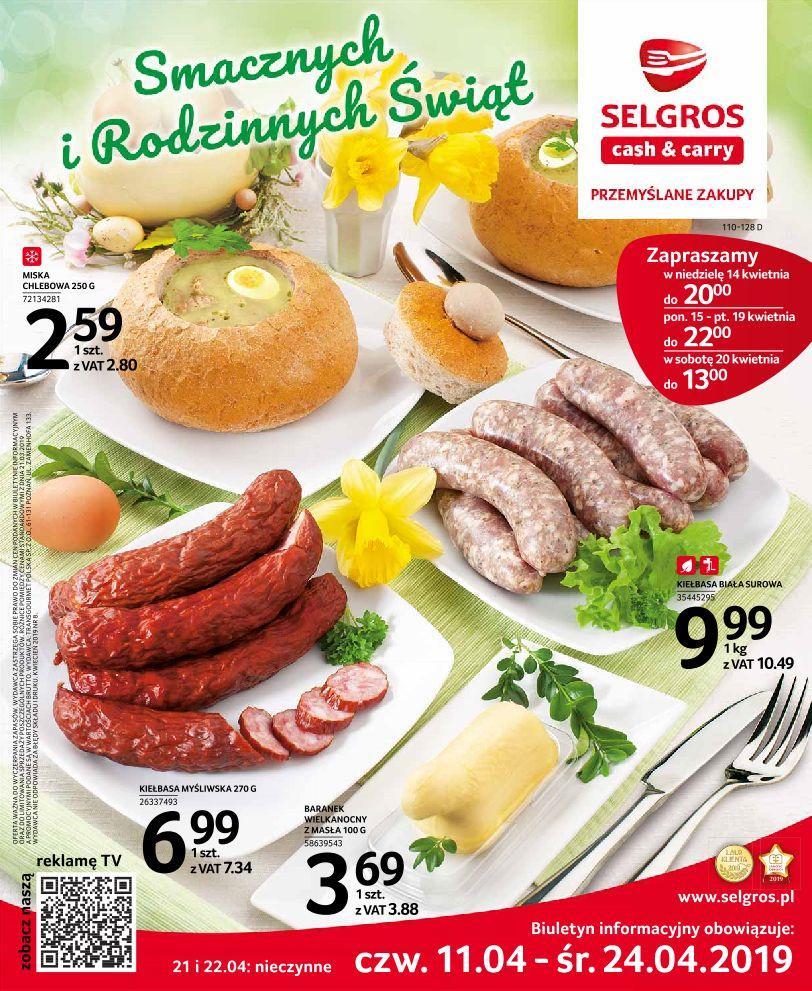Gazetka promocyjna Selgros do 24/04/2019 str.0