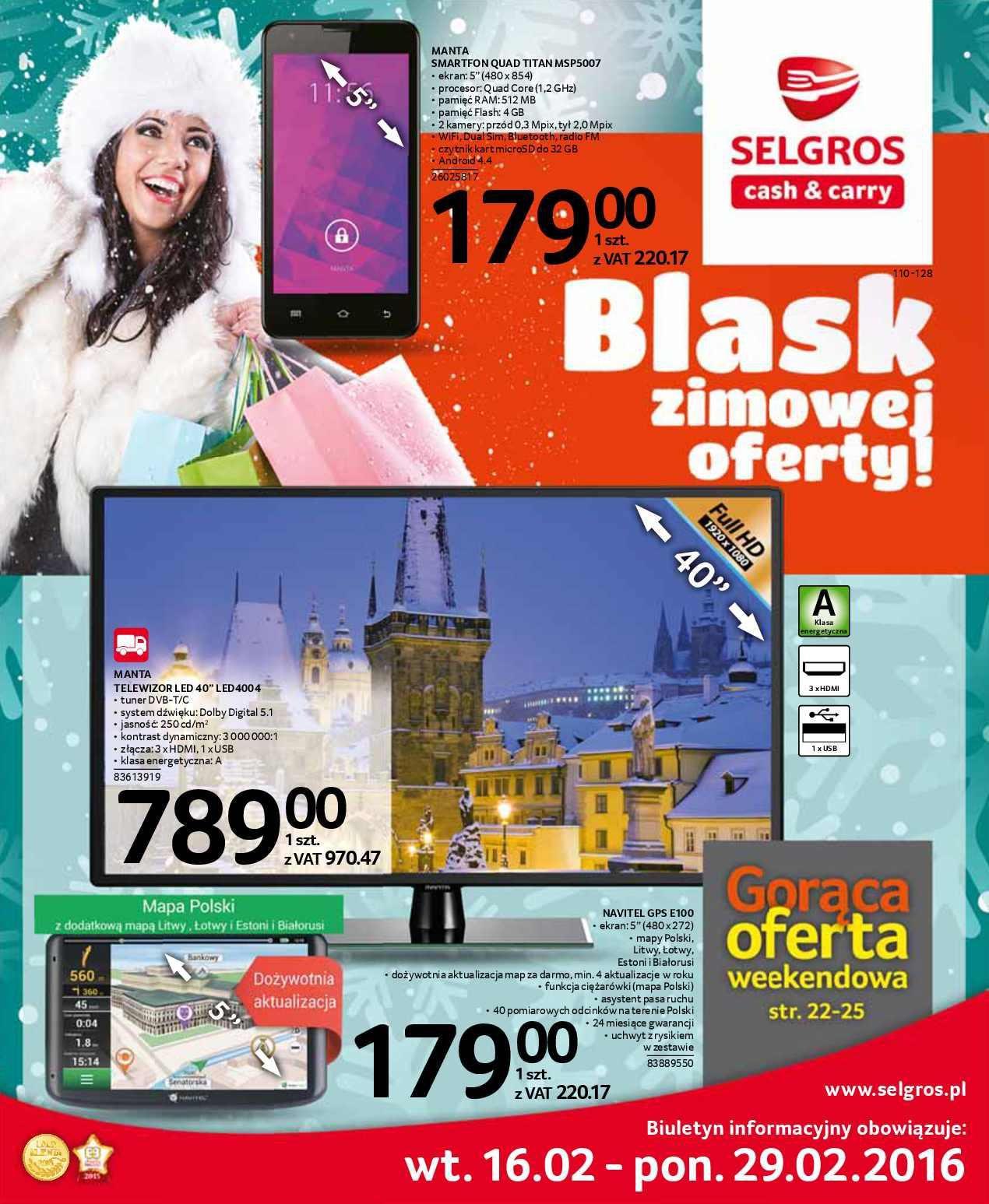 Gazetka promocyjna Selgros do 29/02/2016 str.0
