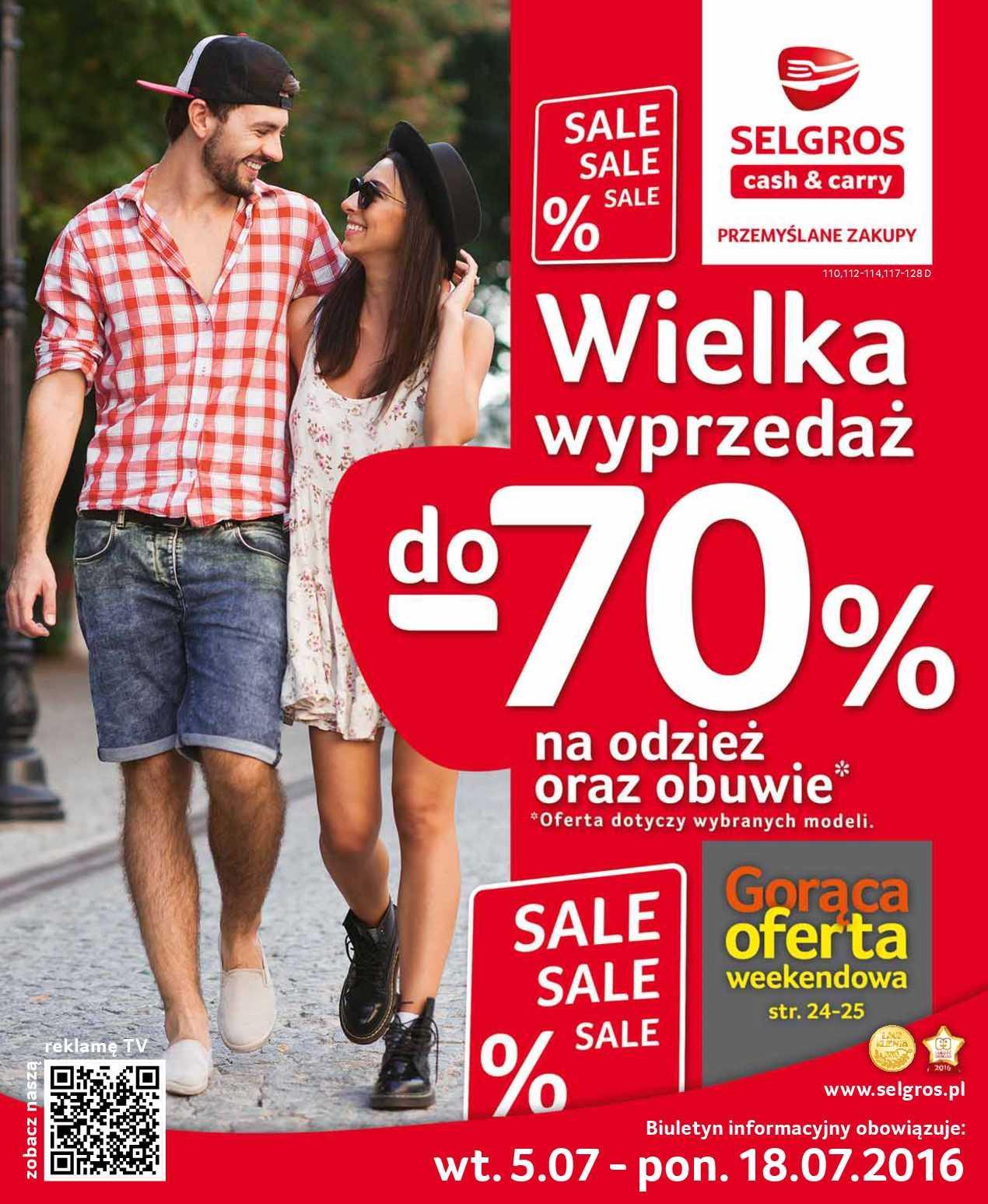 Gazetka promocyjna Selgros do 18/07/2016 str.0