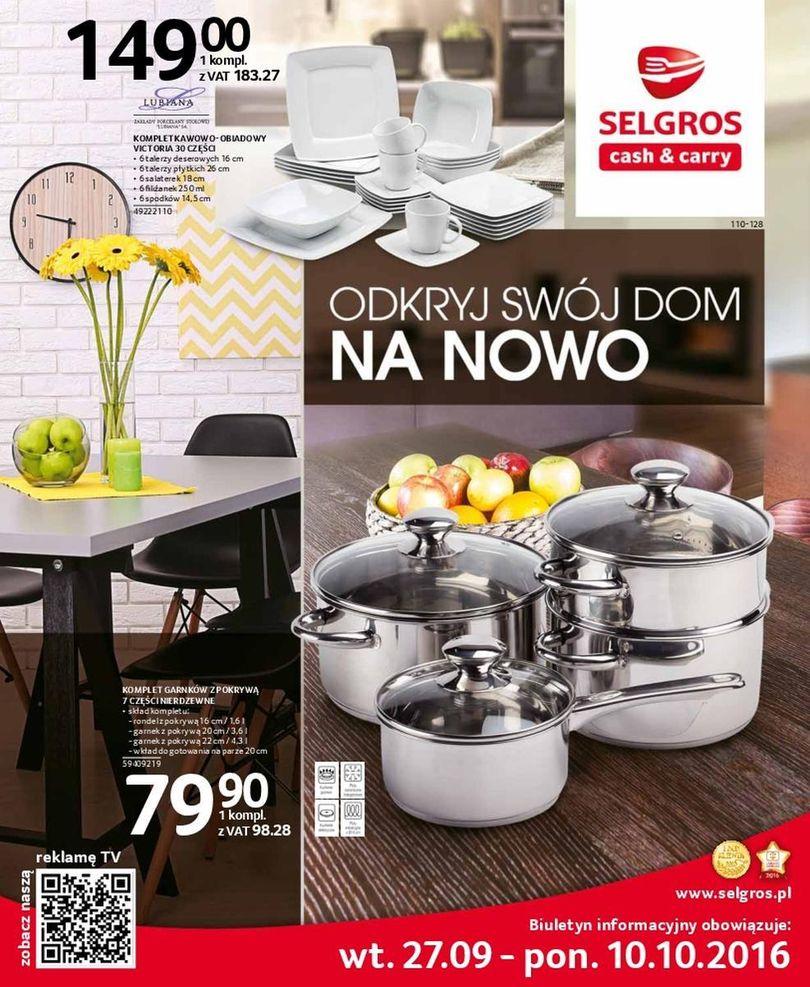 Gazetka promocyjna Selgros do 10/10/2016 str.0