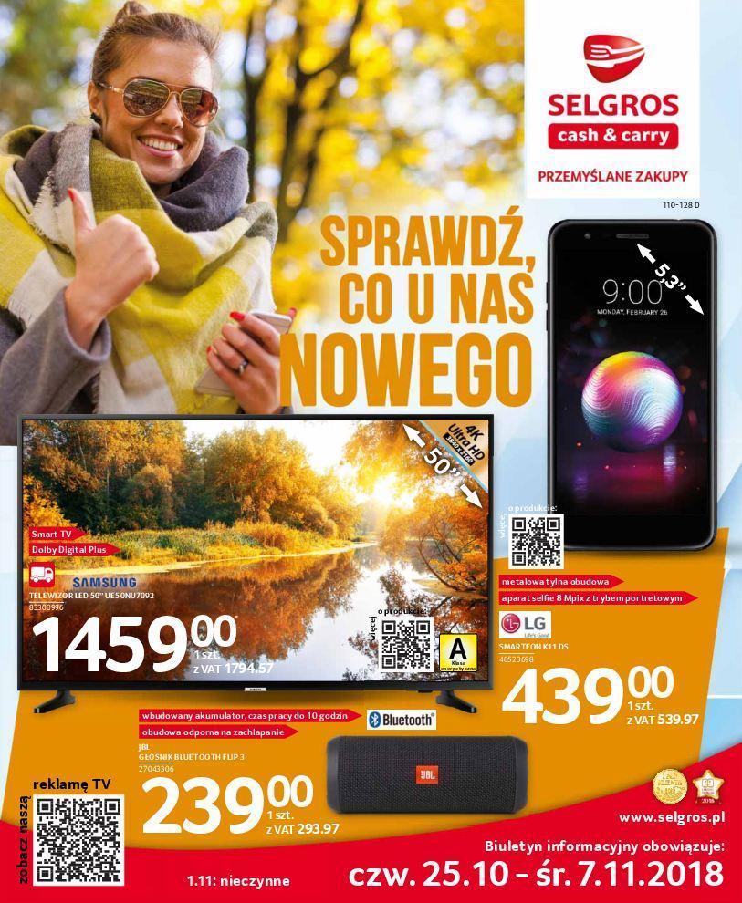 Gazetka promocyjna Selgros do 07/11/2018 str.0
