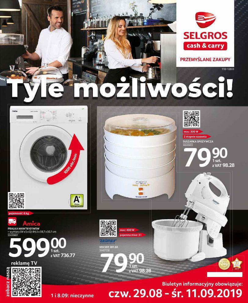 Gazetka promocyjna Selgros do 11/09/2019 str.1