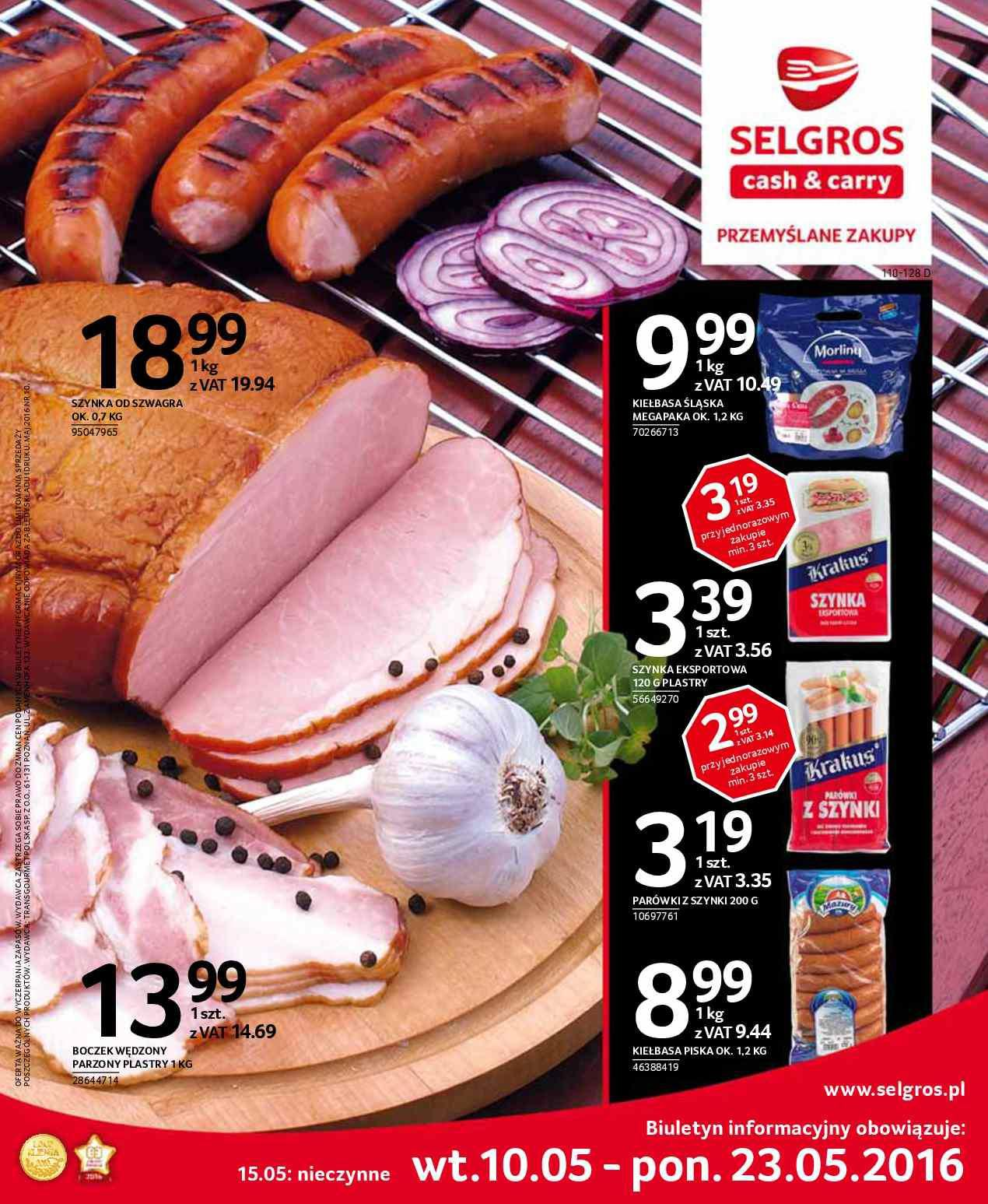 Gazetka promocyjna Selgros do 23/05/2016 str.0