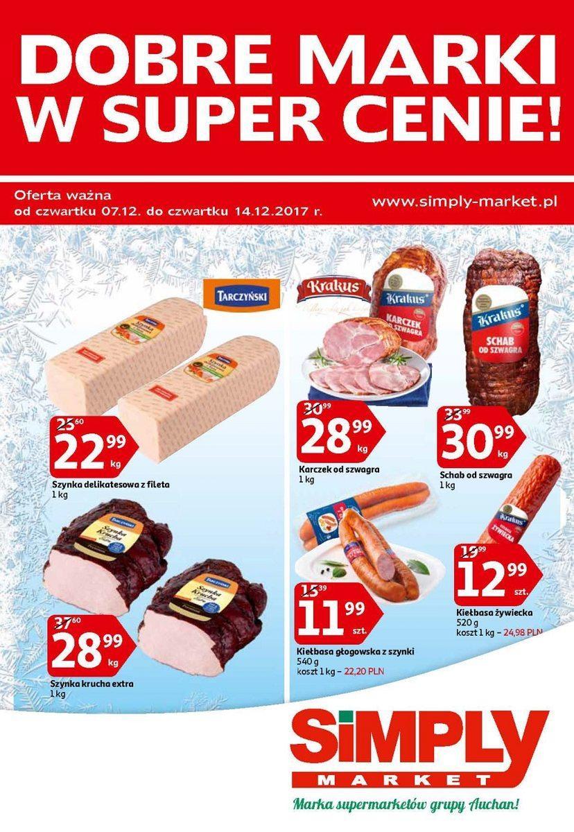 Gazetka promocyjna Simply Market do 14/12/2017 str.1
