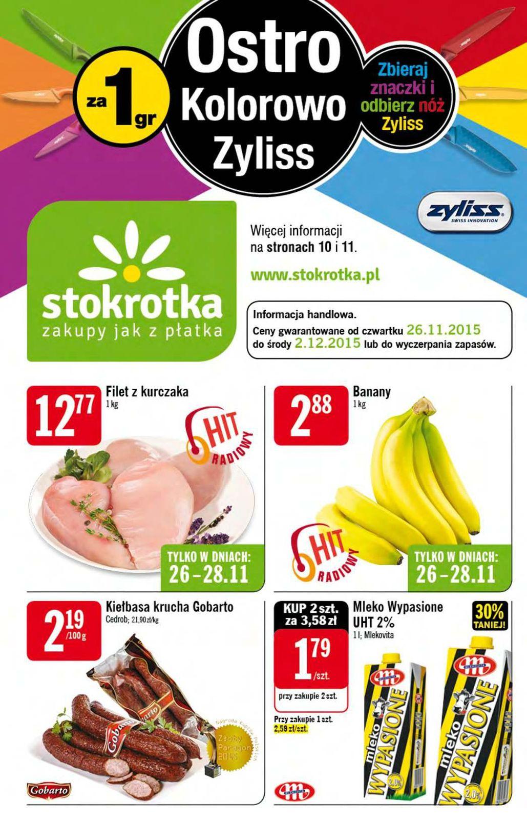 Gazetka promocyjna Stokrotka do 02/12/2015 str.0