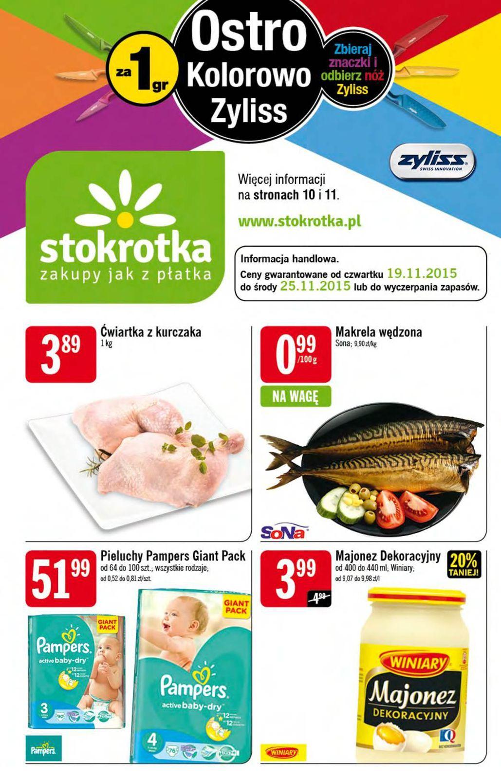 Gazetka promocyjna Stokrotka do 25/11/2015 str.0