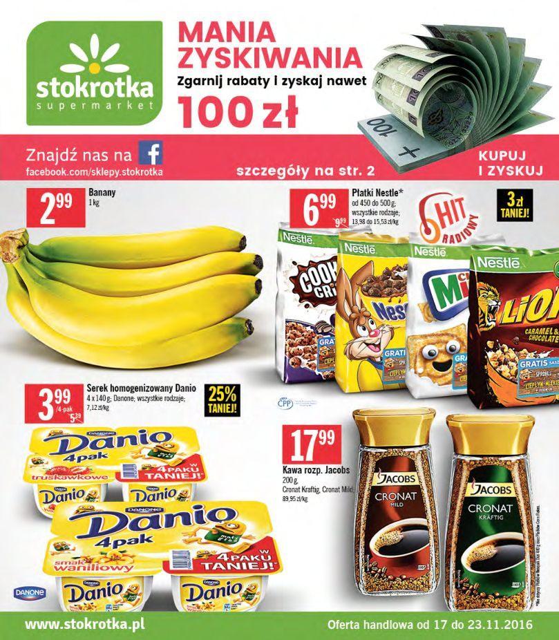 Gazetka promocyjna Stokrotka do 23/11/2016 str.0
