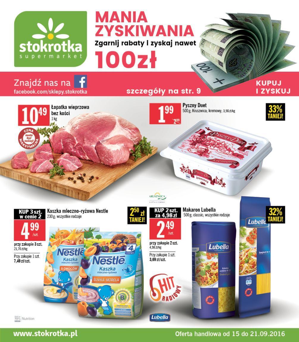 Gazetka promocyjna Stokrotka do 21/09/2016 str.0