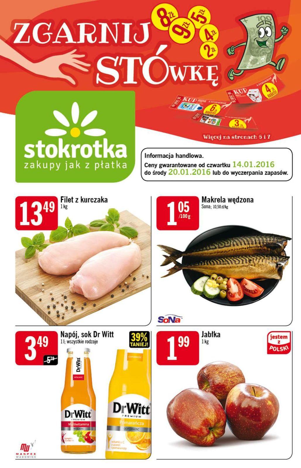 Gazetka promocyjna Stokrotka do 20/01/2016 str.0