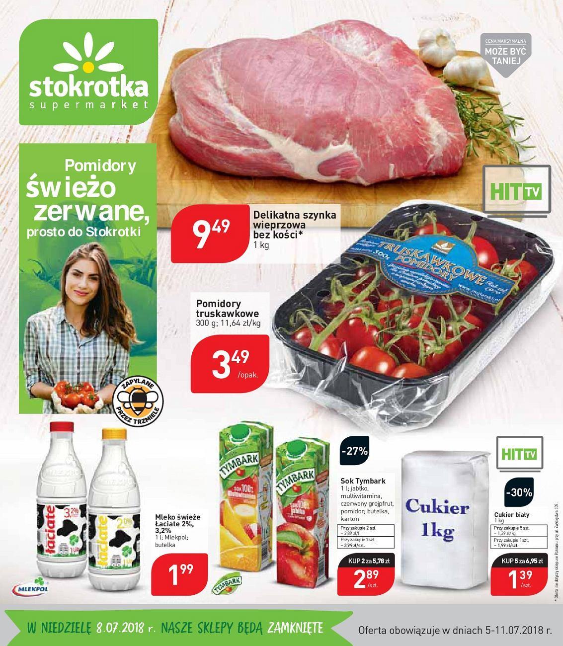 Gazetka promocyjna Stokrotka do 11/07/2018 str.1