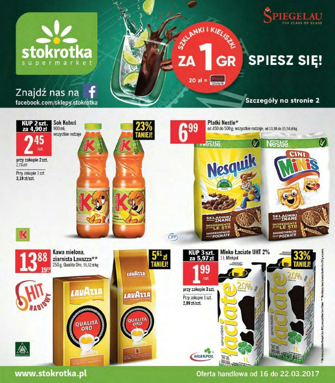 Gazetka promocyjna Stokrotka do 22/03/2017 str.0