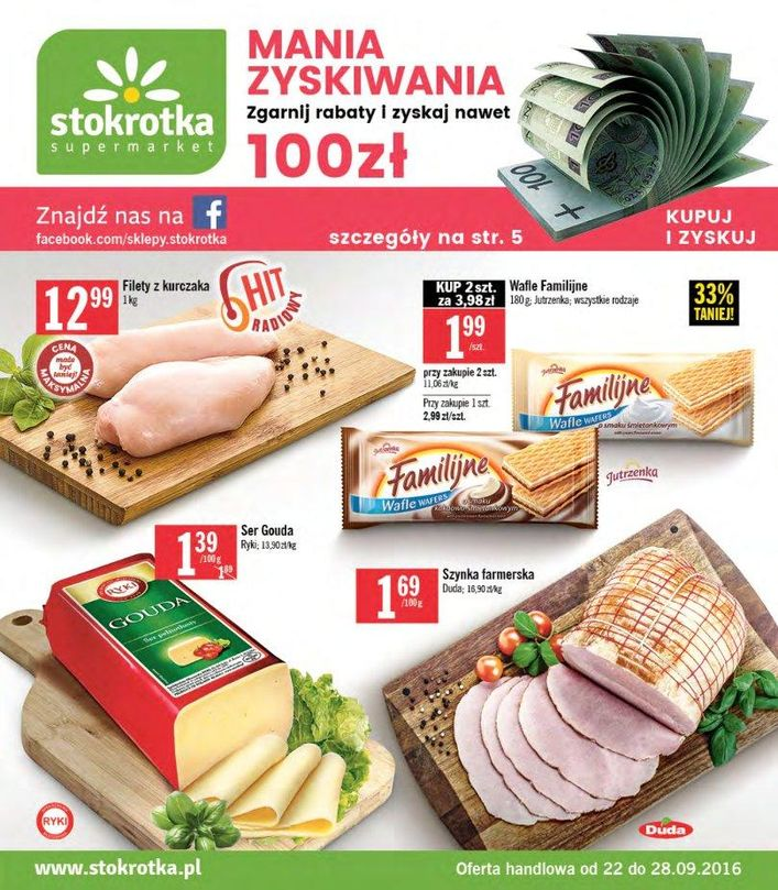 Gazetka promocyjna Stokrotka do 28/09/2016 str.0